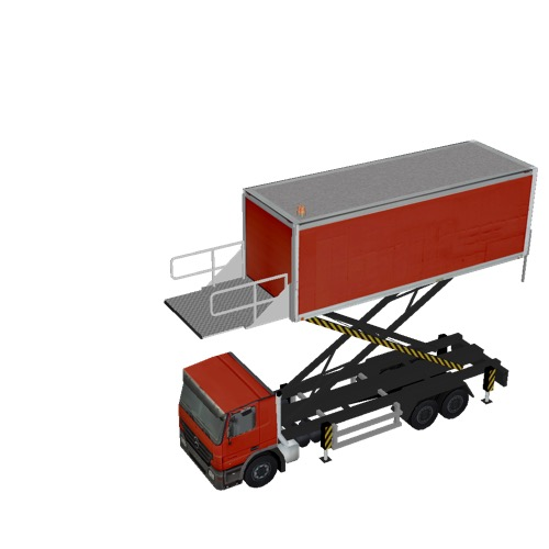 Screenshot of Catering Loader Truck Large, red, 4.5m