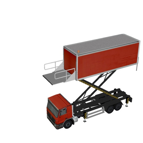 Screenshot of Catering Loader Truck Large, red, 5.0m