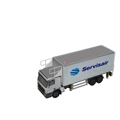 Screenshot of Catering Loader Truck Large, Servisair, stowed