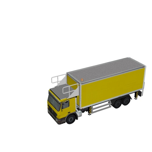 Screenshot of Catering Loader Truck Large, yellow, stowed