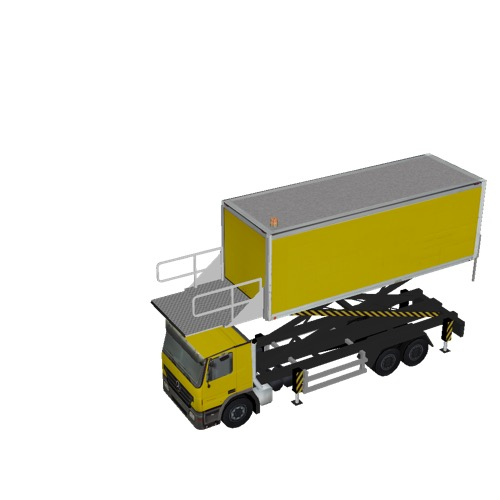 Screenshot of Catering Loader Truck Large, yellow, 3.2m