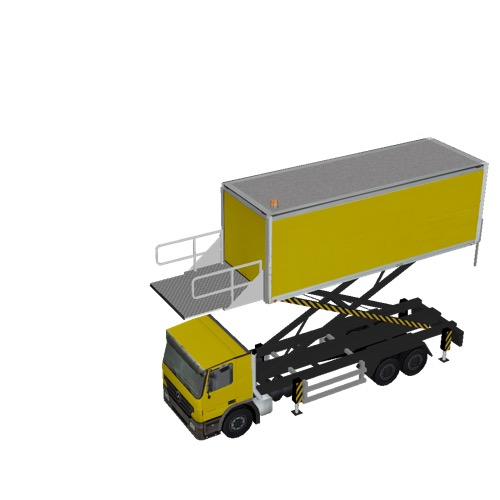 Screenshot of Catering Loader Truck Large, yellow, 4.0m