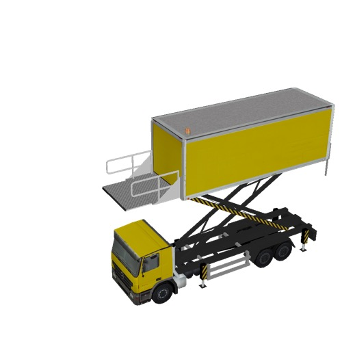 Screenshot of Catering Loader Truck Large, yellow, 4.5m