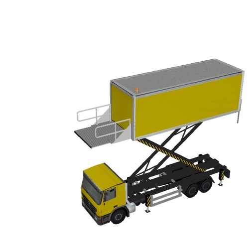 Screenshot of Catering Loader Truck Large, yellow, 5.0m