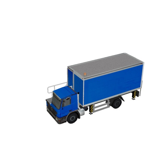 Screenshot of Catering Loader Truck blue, stowed