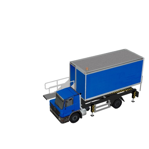 Screenshot of Catering Loader Truck blue, 1.9m