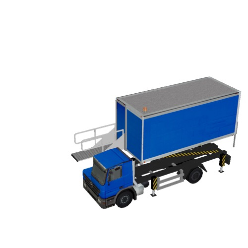 Screenshot of Catering Loader Truck blue, 2.3m