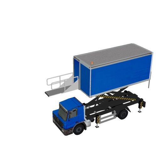 Screenshot of Catering Loader Truck blue, 3.1m