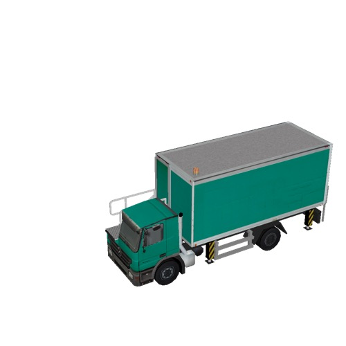 Screenshot of Catering Loader Truck green, stowed