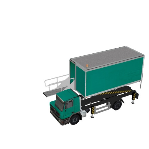 Screenshot of Catering Loader Truck green, 2.3m
