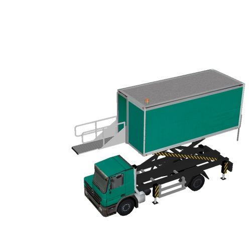 Screenshot of Catering Loader Truck green, 3.1m