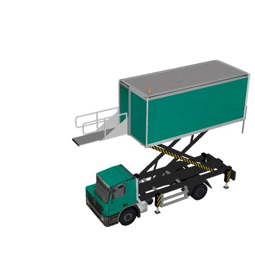 Screenshot of Catering Loader Truck green, 4.0m