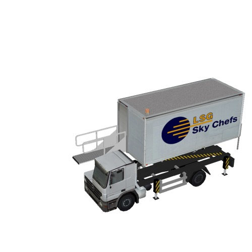 Screenshot of Catering Loader Truck LSG Sky Chefs, 2.3m