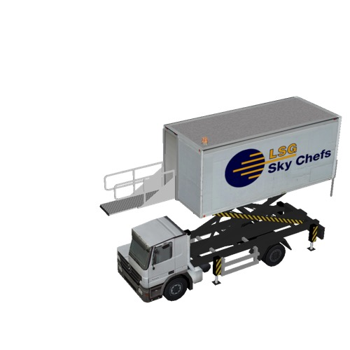 Screenshot of Catering Loader Truck LSG Sky Chefs, 3.1m