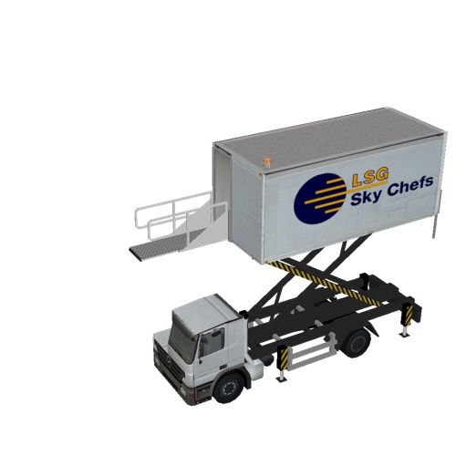 Screenshot of Catering Loader Truck LSG Sky Chefs, 4.0m