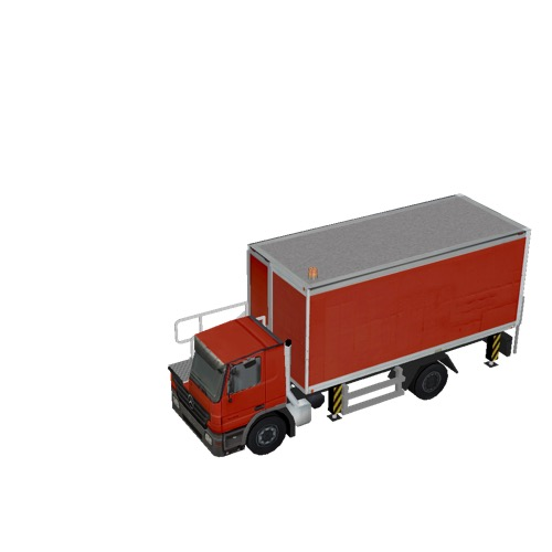 Screenshot of Catering Loader Truck red, stowed