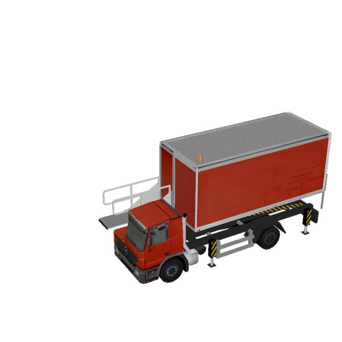Screenshot of Catering Loader Truck red, 1.9m