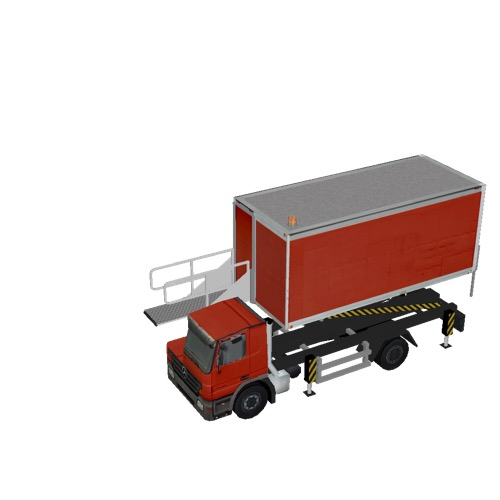Screenshot of Catering Loader Truck red, 2.3m