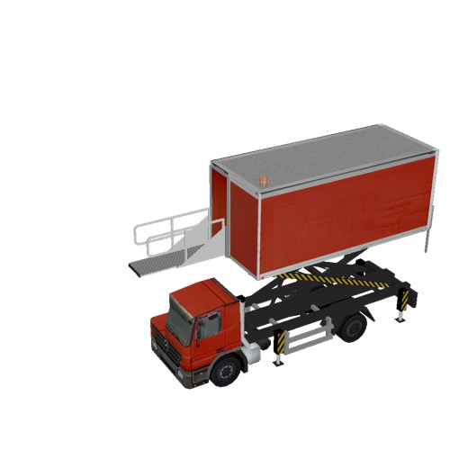 Screenshot of Catering Loader Truck red, 3.1m