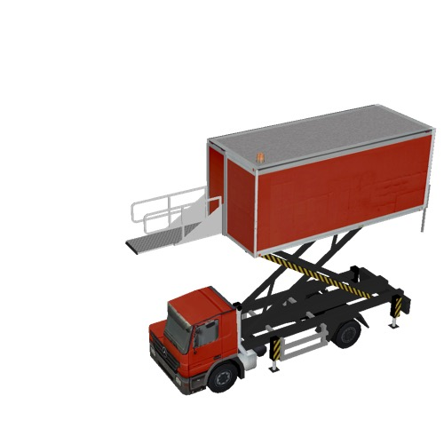 Screenshot of Catering Loader Truck red, 4.0m