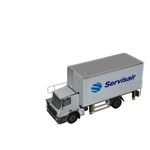 Screenshot of Catering Loader Truck Servisair, stowed
