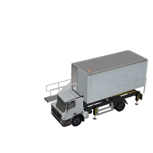 Screenshot of Catering Loader Truck White, 1.9m