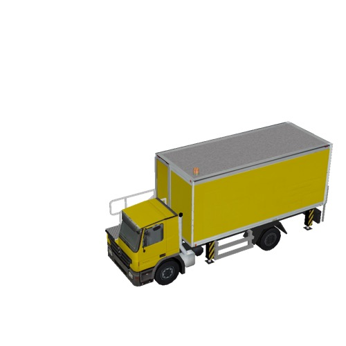 Screenshot of Catering Loader Truck yellow, stowed