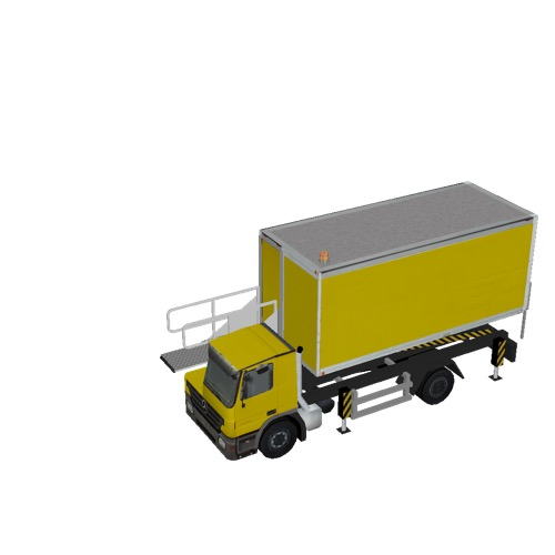 Screenshot of Catering Loader Truck yellow, 1.9m