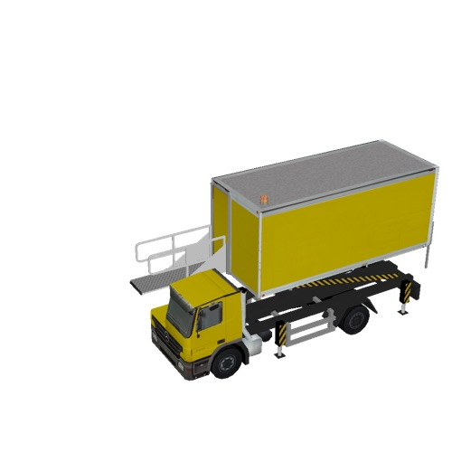 Screenshot of Catering Loader Truck yellow, 2.3m