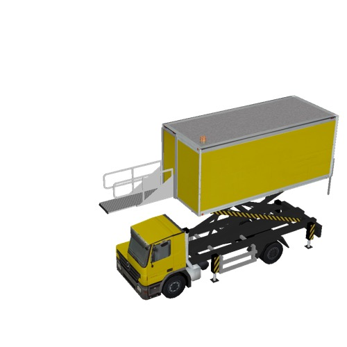 Screenshot of Catering Loader Truck yellow, 3.1m