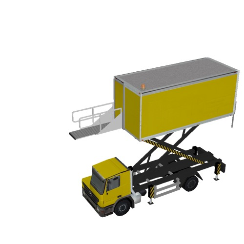 Screenshot of Catering Loader Truck yellow, 4.0m