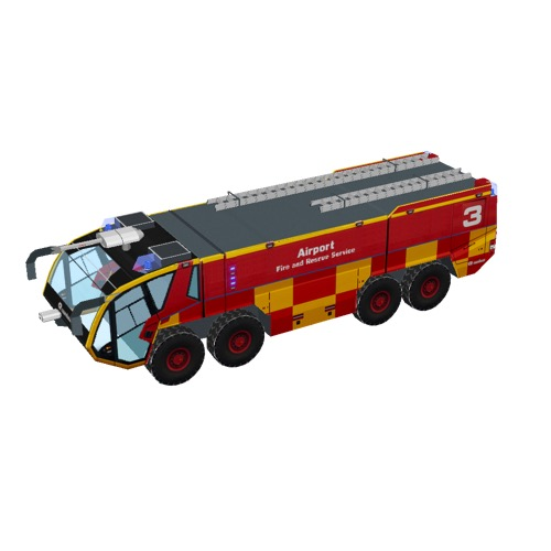 Screenshot of Fire engine, Panther 8x8, red + yellow