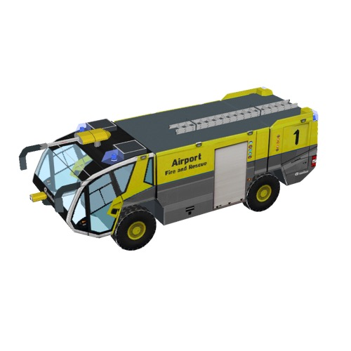 Screenshot of Fire engine, Panther 4x4, yellow + grey