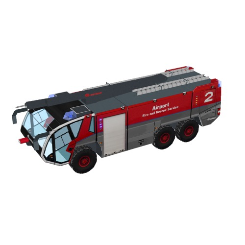 Screenshot of Fire engine, Panther 6x6, red + grey, HRET
