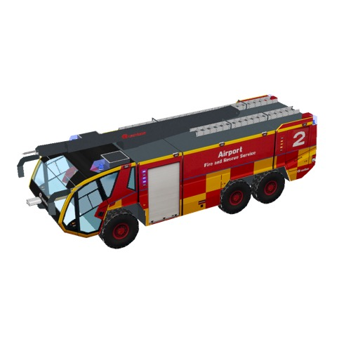 Screenshot of Fire engine, Panther 6x6, red + yellow, HRET