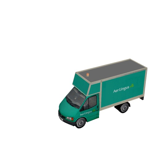 Screenshot of Ford Transit box truck, Aer Lingus