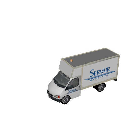 Screenshot of Ford Transit box truck, Servair