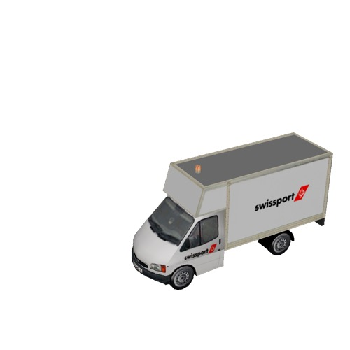 Screenshot of Ford Transit box truck, Swissport