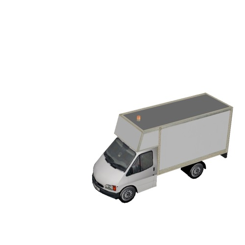 Screenshot of Ford Transit box truck, white
