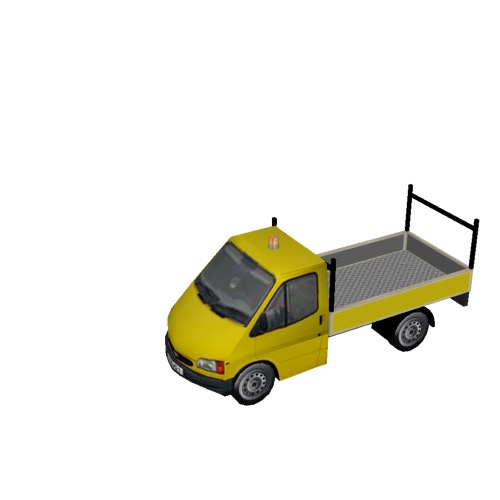 Screenshot of Ford Transit pickup, yellow