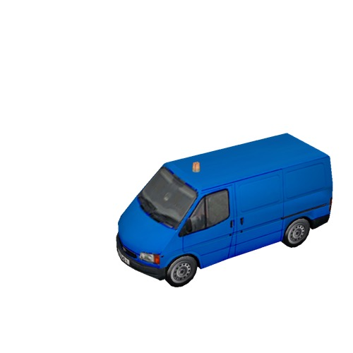 Screenshot of Ford Transit van, blue