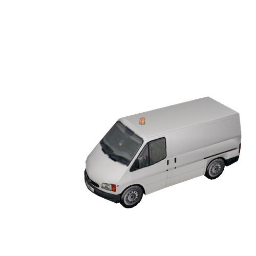 Screenshot of Ford Transit van, white