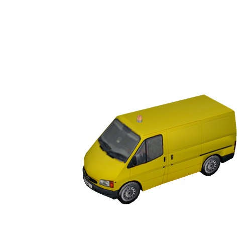 Screenshot of Ford Transit van, yellow