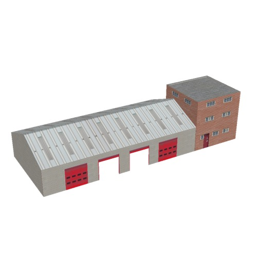 Screenshot of Fire station, grey brick, four bays and office