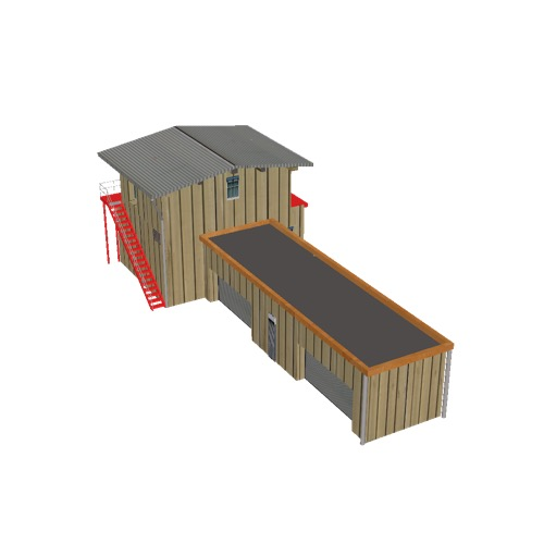 Screenshot of Hangar, wooden with office