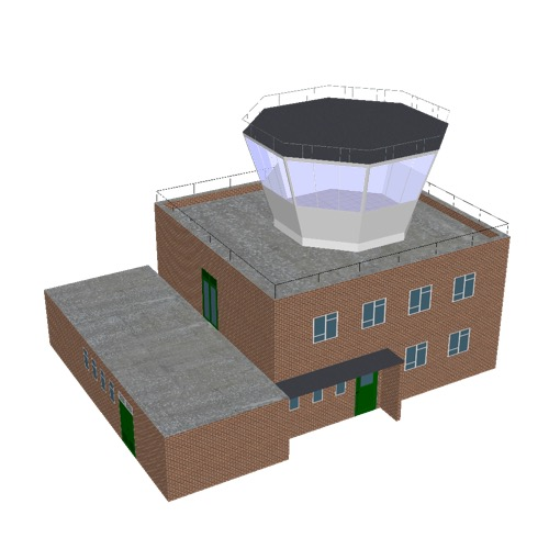 Screenshot of Tower, brick, 2 storey, octagonal control room