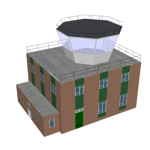 Screenshot of Tower, brick + green, 2 storey, octagonal control room