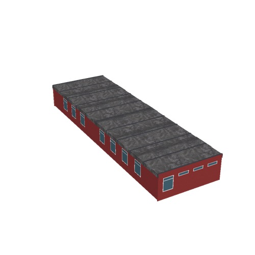 Screenshot of Office, prefabricated, red, 30m long