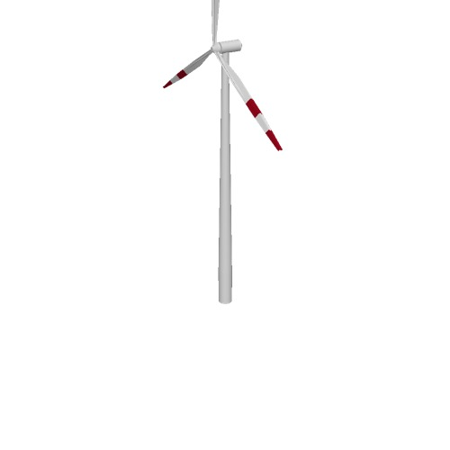 Screenshot of Wind turbine, 3-bladed, 100m, red bands