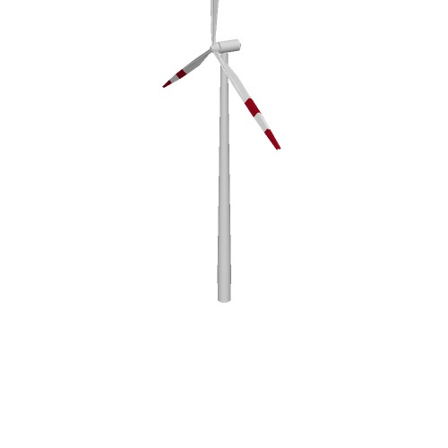Screenshot of Wind turbine, 3-bladed, 150m, red bands